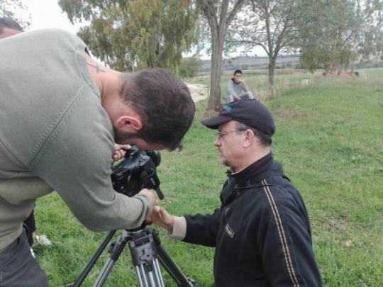 Sul Set videoclip Ricordi nella pioggia di Enrico Zuppa